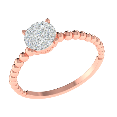ROUND SOLITAIRE LOOK RING
