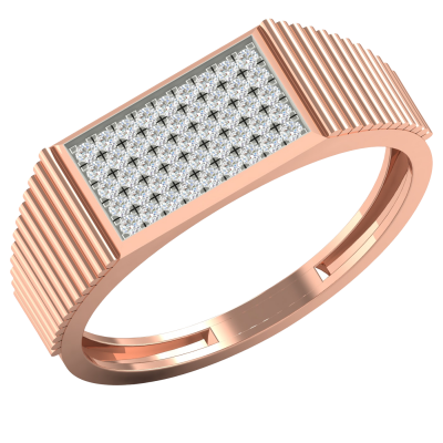 CLASSIC GOLD DIAMOND RING FOR HIM